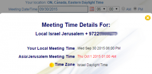 Global Meeting Time Zones