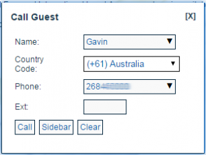 The host can dial out to participants using Mercuri's web based conference viewer.